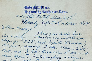 Charles Dickens' letter to his son